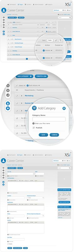 Content Management System (CMS) Admin Panel by Waseem Arshad, via Behance