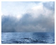 Ocean Photograph, blue, sea, clouds, As Blue as the Sea, nature fine art print 8x10 on Etsy, $30.00
