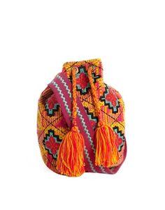 Bolso estampado azteca y trenzas de ASOS