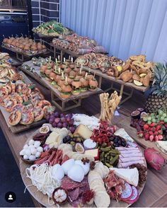 We had the pleasure to cater for Baby Shower 💕Antipasto Platters by Party Food Buffet, Party Food Platters, Charcuterie Recipes, Charcuterie And Cheese Board, Catering Display, Catering Food, Catering For Parties, Appetizer Table Display, Appetizer Buffet