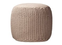 Rope pouf in natural ($80)