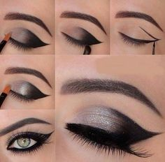 Use Shimmer inside corner of the eye and dark shadow outside for glamour look. Powered by www.myweddingbazaar.com