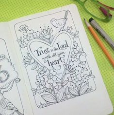 Trust in the Lord Journal Page           http://karladornacher.typepad.com /karlas_korner/coloring_pages/