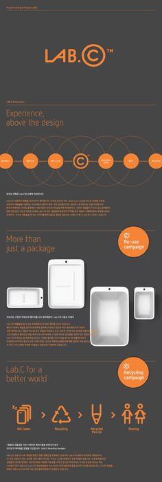 LAB.C Brand Design by Plus X, via Behance