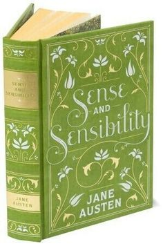 "Pretty in Green ..... Vintage Book Cover ""Sense & Sensibility"" by Jane Austen ...."