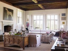 Claudia Schiffer's Tudor Mansion - The Drawing Room.