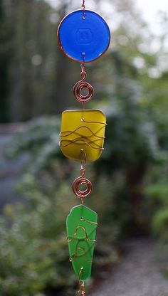 Wind Chime Glass Copper Brass Handcrafted Outdoor Windchimes - Coast Chimes - 2