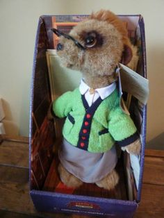 *need!* maiya Compare The Market Meerkat Meer Cat Toy Complete with Certificate MIB