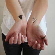 Small triangle temporary tattoos (4 pieces)