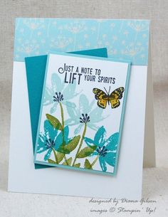 CCREW Step It Up #1 Challenge - Basic SAB Avant Garden by Diana Gibson - Cards and Paper Crafts at Splitcoaststampers