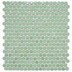 SomerTile 11.25x12-in Posh Penny Round Capri Porcelain Mosaic Tile (Pack of 10) | Overstock.com