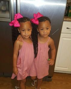 Two twin girls! I want a pair of twin girls one day! Hopefully God bless me with twins one day! Afro, Pretty Black Girls, Black Is Beautiful, Beautiful Eyes, Beautiful Children, Beautiful Babies, Biracial Twins, Cute Kids, Cute Babies