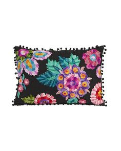 Bold flowers in beautiful embroidery