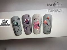 ШИКАРНЫЕ НОГТИ! Маникюр! Педикюр! Дизайн ногтей | VK Flower Nail Designs, Gel Nail Designs, Wow Nails, Cute Nails, Nail Art Fleur, Builder Gel Nails, Sculpted Gel Nails, Nail Art Wheel, Romantic Nails