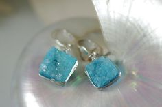 Hey, I found this really awesome Etsy listing at https://www.etsy.com/listing/249715876/aqua-blue-druzy-earrings-sterling-silver