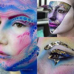 Airbrushing make-up by Karla Powell