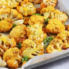 Pieczony kalafior | AniaGotuje.pl Vegetarian Recipes, Cooking Recipes, Healthy Style, Health Dinner, Vegan Life, Cauliflower, Grilling, Dinner Recipes, Food And Drink