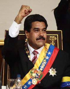 This is a picture of Nicolás Maduro. Nicolás Maduro is the president of venezuela. Nicolás Maduro is a socialist.  He was born on  November 23, 1962. Nicolás Maduro has a son named Nicolás Maduro Guerra, and a wife named Cilia Flores.  Nicolás Maduro had won the special election held in April 2013 to choose a president to serve out the remainder of the term of president Hugo Chávez, who had died that March. Before Nicolás Maduro was the vice president.