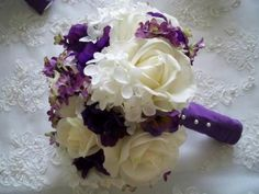Silk+Flower+Bridal+Bouquet+with+Realtouch+Roses+and+Purple+Silk+Anemone