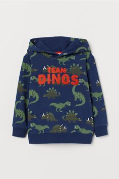 Top in sweatshirt fabric with long sleeves and a jersey-lined hood with a wrapover front. Ribbing at the cuffs and hem. Boys Winter Clothes, Hooded Sweatshirts, Hoodies, Stylish Boys, Latest T Shirt, Hooded Sweater, Boys T Shirts, Fashion Company, Padded Jacket