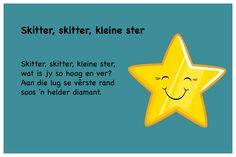 Skitter skitter kleine ster - Kinderrympies in Afrikaans Afrikaans, Poems, School, Creative, Quotes, Fun, Kids, Qoutes, Fin Fun