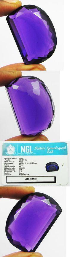 Amethyst 10192: 156.25Ct Certified Gigantic Purple Amethyst Fancy Gem 40.7X27.9X15.2Mm -> BUY IT NOW ONLY: $109.99 on eBay!