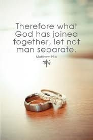 I want this to be said at my wedding when it's time for the rings