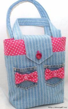 Denim tote/handbag by GorgeousAgaindotcom on Etsy, Denim Purse, Tote Purse, Patchwork Bags, Quilted Bag, Jean Purses, Denim Crafts, Recycled Denim, Fabric Bags, Beautiful Bags