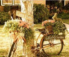 14 Ideas creativas De Jardín Decoración Hecho De Bicicletas upcycled • Recyclart