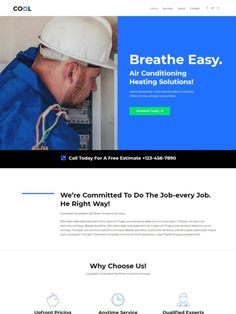 Breathe Easy, Wordpress Website Design, Heating And Air Conditioning, Cool Stuff