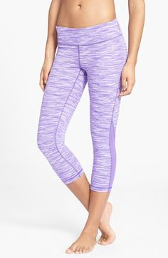 Zella 'Streamline - Live In' Mesh Inset Capri Leggings available at #Nordstrom