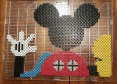 Mickey Mouse Clubhouse Perler Bead Pattern. I found a pattern and added the Glove balloon and tweaked the pattern just a smidge! Decoration for my daughters birthday party!