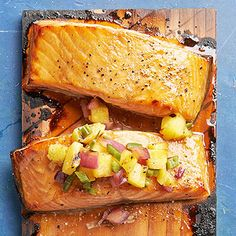 Teriyaki Salmon with Pineapple Salsa From Better Homes and Gardens, ideas and improvement projects for your home and garden plus recipes and entertaining ideas.