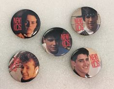Excited to share this item from my shop: Vintage 1990 New Kids On The Block NKOTB 1 Button Pin Band Group Lot of 5 Danny Wood, Band Group, Donnie Wahlberg, Jordan Knight, Vintage Music, New Kids, My Man, Cool Bands, My Childhood