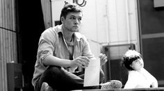 Taron Egerton in rehearsals for The Last of the Haussmans