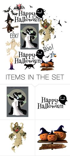 """Happy Halloween👻"" by mandimwpink ❤ liked on Polyvore featuring art, Halloween and happyhalloween"