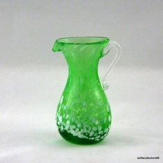 Kanawha Glass 1115 Pitcher in Green End of by soflacollectors86