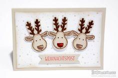 Weihnachtspost mit Stampin Up Ausgestochen weihnachtlich
