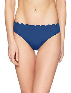 La Blanca Womens Island Goddess Scallop Edge Hipster Bikini Swimsuit Bottom Bikini Bottoms