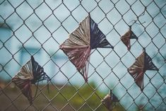 Chain Link Fence Art - Lacing Strings