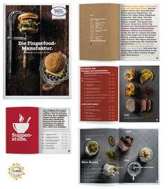 """Ausgezeichnet mit dem International Creative Media Award in GOLD! Die Broschüre """"Die Fingerfood-Manufaktur"""" der Metzgerei Geydan-Gnamm."""