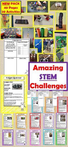STEM Challenges STEM Activities Grades 1 - 5 Primary School Curriculum, Learn Math Online, Stem Steam, Stem Science, Stem Challenges, Stem Projects, Science Activities, Science Experiments, Spelling And Grammar