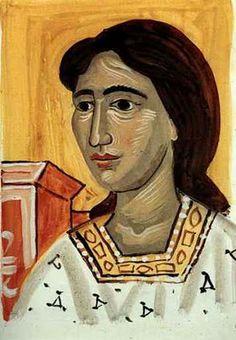 Γιάννης Τσαρούχης Painter Artist, Artist Painting, Artist Art, Greek Paintings, Contemporary History, 10 Picture, Greek Art, Gustav Klimt, Color Of Life