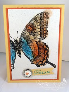 kareN stampZ : lots of colour combos using Stampin' Up! lovely Swallowtail stamp