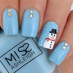 Winter is one of the most exciting seasons of the year for fashion. When you have your hair and outfit down, make sure you also have a good manicure. Here we have rounded up 37 inspirational winter nail designs for… Continue Reading → Nail Art Noel, Xmas Nail Art, Christmas Gel Nails, Holiday Nails, Blue Christmas, Christmas Ideas, Christmas Decorations, Christmas Tree, Winter Nail Designs