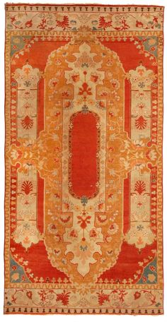 Antique Oushak Rug (Turkish) from Woven Accents red rug Textiles, Modern Carpet, Grey Carpet, Carpet Colors, Carpet Design, Contemporary Rugs, Modern Rugs, Persian Carpet, Persian Rug