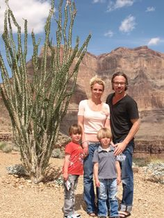 Britney, Justin, and the boys at the Grand Canyon.