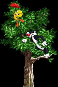 I tawt I taw a puddy tat. I love Tweety Bird.