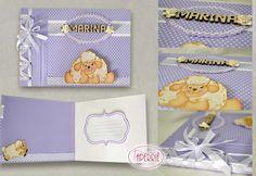 Caderno de assinaturas para Chá de Fraldas ou Maternidade, com costura japonesa em fita de cetim. #paperriê #encadernaçãoartesanal #encadernaçãoartísitca #feitoamão #scrap