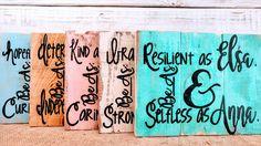 Princess Quotes, Princess pallet board signs, Princess art, Cinderella Art, princess pallet art, Anna art, Snow White art, Belle art by EdisonAvenue on Etsy